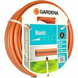 """Шланги и комплекты для полива - Шланг GARDENA Basic 1/2"""" 20 метров оранжевый, 0"""