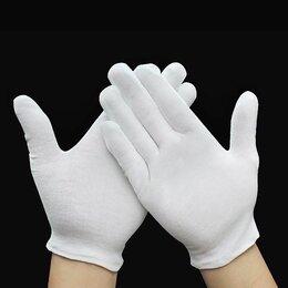 Перчатки и варежки - Перчатки белые хлопковые, 0