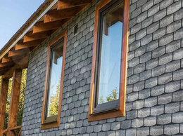 Фасадные панели - Технониколь hauberk фасадная плитка, Камень,Сланец, 0
