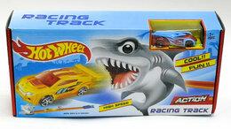 Радиоуправляемые игрушки - Трек Хот Вилс Гонка с акулой, 0