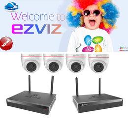Готовые комплекты - Комплект на 4 купольных камеры EZVIZ C4W+EZVIZ X5S, 0