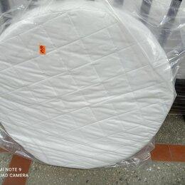 Матрасы и наматрасники - матрас круглый диаметром 75 см с кокосом чехол стеганный жаккард, 0