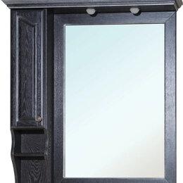 Зеркала - Зеркало-шкаф Bellezza Рим 110 L черное патина…, 0
