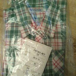 Рубашки - Рубашки новые детские - клетка, зеленая, красная (3 шт), 0