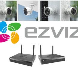 Готовые комплекты - Комплект на 4камеры видеонаблюдения EZVIZ C3WN+X5S, 0