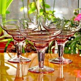 Бокалы и стаканы - Вазочки конфетницы, варенницы цветное стекло. СССР, 0