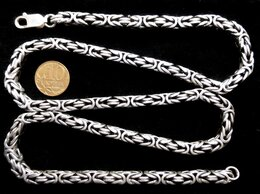 Цепи - Серебряная цепь квадратный Кардинал.Вес 90…, 0