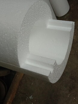 Изоляционные материалы - Скорлупа для труб D110Х1230Х50 мм, 0