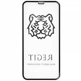 Защитные пленки и стекла - Защитное стекло для iPhone XR Tiger 5D (Черный), 0