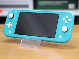 Игровые приставки - Nintendo Switch Lite Бирюзовый Б.У с гарантией, 0