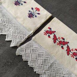 Полотенца - Полотенце домотканое / пир / кружево и вышивка / ручная работа, 0