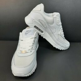 Кроссовки и кеды - Кроссовки Nike Air Max 90 белые (A775), 0