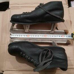 Коньки - Коньки беговые фигурные кожаные СССР 40 размер…, 0
