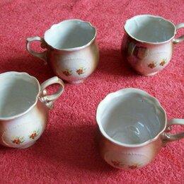 Кружки, блюдца и пары - Кружки  чайные перламутр -С.С.С.Р.(4 шт.), 0