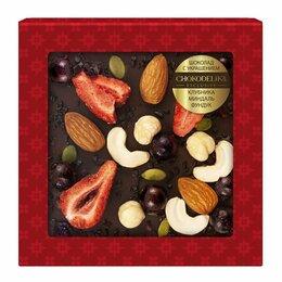 Продукты - Шоколад темный с украшением «Клубника, миндаль,…, 0