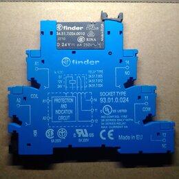 Реле - Реле Finder 24VDC/ 6A, 250VAC с панелькой (новое), 0