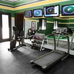 Фактурные декоративные покрытия - Резиновое покрытие в фитнес и домашний спортзал, 0