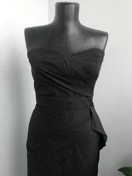 Платья - Коктейльное платье с декольте и баской, 0
