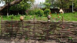Заборчики, сетки и бордюрные ленты - плетни из орешника, 0