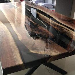 Столы и столики - Стол лофт из чёрного ореха., 0