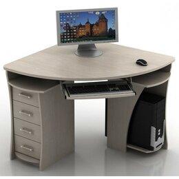 Компьютерные и письменные столы - Уценка!! Угловой компьютерный стол 98*98 см дуб беленый, 0