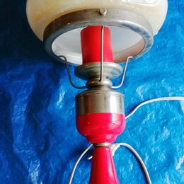 Ночники и декоративные светильники - Лампа настольная высота 50 см. метал стекло, 0