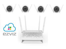 Камеры видеонаблюдения - Комплект на 4камеры ezviz C3WN +Vault Plus, 0