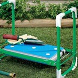 Скамейки - Скамейка перевёртыш садовая Ника до 100 кг складная с мягким сиденьем, 0