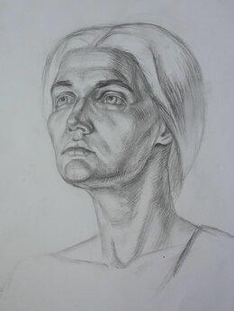 Картины, постеры, гобелены, панно - Портрет девушки углем, 0