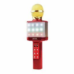 Микрофоны - Караоке Микрофон Wster WS-1828 красный, 0