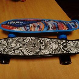 Скейтборды и лонгборды - Пенниборд с принтом 56х14см., 0