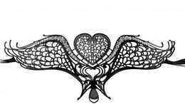 Карнавальные и театральные костюмы - Чёрная металлическая карнавальная маска Swan…, 0