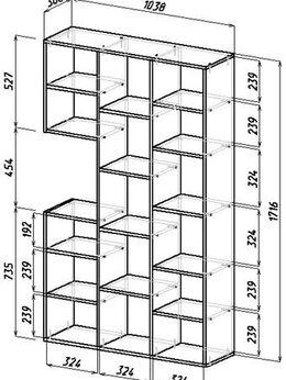Стеллажи и этажерки - Стеллаж Рикс 1, 0