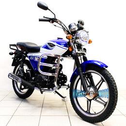 Мототехника и электровелосипеды - Мопед Альфа Alpha RX 110 см3, синий с белым, 0