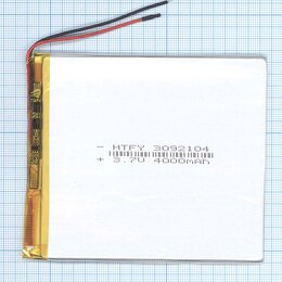 Аккумуляторы - Аккумулятор Li-Pol (батарея) 3*92*104мм 2pin…, 0