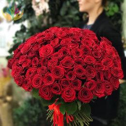 Цветы, букеты, композиции - 101 Роза 50см Красная Доставка, 0