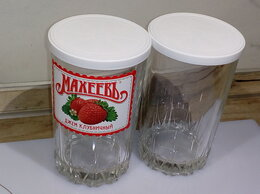 Бокалы и стаканы - Набор стеклянных стаканов с крышками, 0