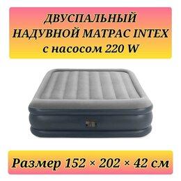 Надувная мебель - Кровать двуспальная матрас надувной Intex Hortex…, 0