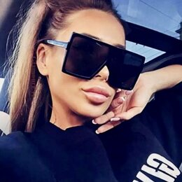 Очки и аксессуары - Солнцезащитные очки квадратные TT Унисекс Винтаж, 0