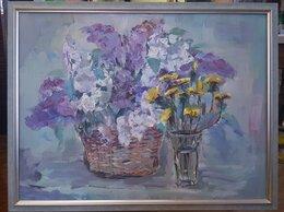Картины, постеры, гобелены, панно - Картина маслом натюрморт цветы, 0