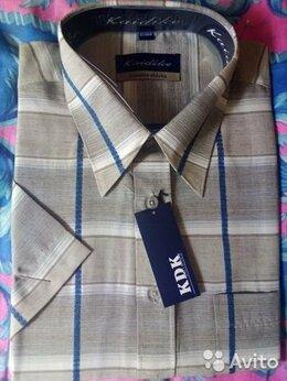 Рубашки - Рубашка мужская Kaidike, новая, клетка, кор. рукав, 0