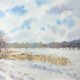 Картины, постеры, гобелены, панно - Картина «Зимнее озеро», 0