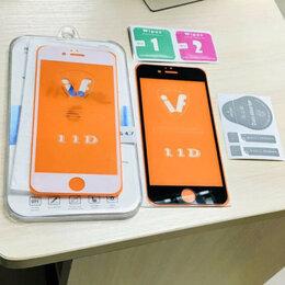 Чехлы - Защитные стёкла 3D на айфон 6/6S чёрный и белый цв, 0