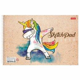 Рисование - Скетчбук, белая бумага 100 г/м2, 210х297 мм, 40 л., спираль, «LOOK AT MY DAB», 4, 0
