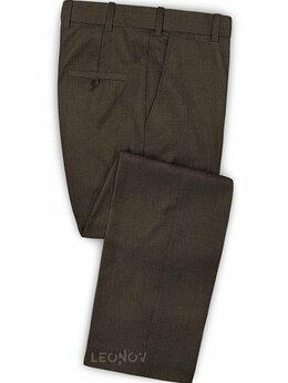 Брюки - Темно-коричневые брюки из шерсти – Scabal, 0
