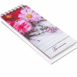 Бумажная продукция - Блокнот Цветы, 80листов, 0