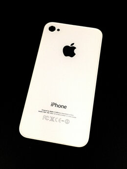 Корпусные детали - Задняя крышка для Apple iPhone 4s белая,оригинал, 0