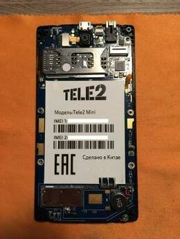 Мобильные телефоны - Системная плата Tele 2 mini оригинал, 0
