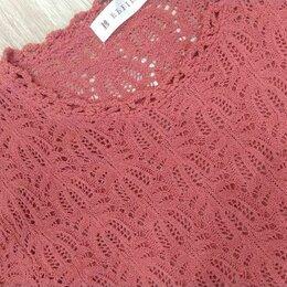 Блузки и кофточки - Блузка кофта женская вязанная коралл размер 50-52, 0