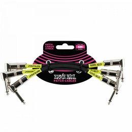 Наборы инструментов и оснастки - Ernie Ball 6050 набор кабелей инструментальных с угловыми джеками, 3 шт, длина 1, 0